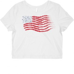 flag crop top
