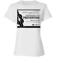 2018 National Leadership Forum- Ladies T-Shirt- White