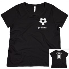 Custom Plus Size Soccer Mom Tees