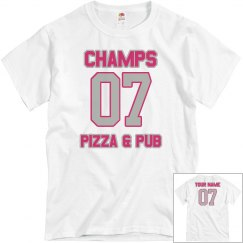 Champs 4 - Grey & Hot pink - CUSTOMIZABLE WITH NAME