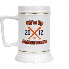 Softball League Stein