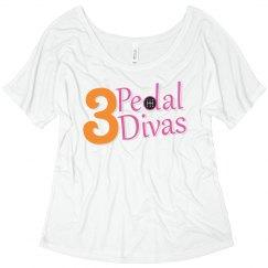 3 Pedal Divas Slouchy Tee