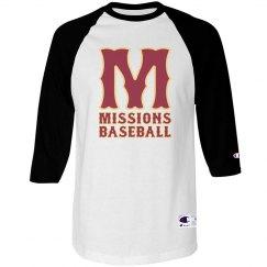 Unisex baseball tee big M logo