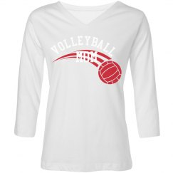 3/4 Sleeve Volleyball Mom