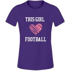 Girl loves football