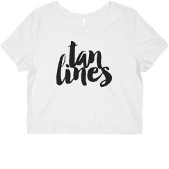 """""""tan lines"""" crop top"""