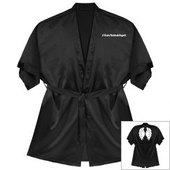 #TeamTwistedAngels Satin Kimono Short Robe