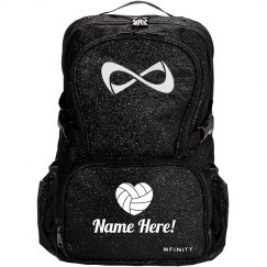 Personalize A Sparkly Volleyball Bag With Your Name!