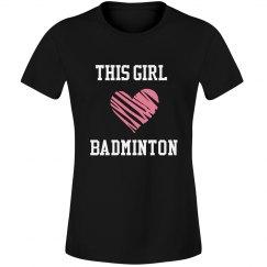 This girl loves badminton