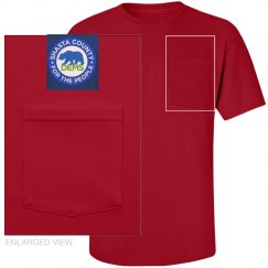 Red Pocket Tee shirt