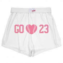 Go Baseball cheer shorts