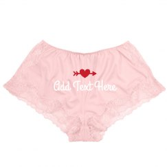 Custom Text Lace Lingerie Shorts