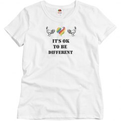 Autism Ladies It's Ok To Be Different Chick Tee