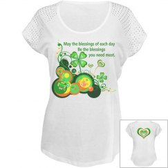 Irish Blessing, Capped Sleeve top