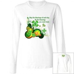 Irish Blessing, Scoop neck long sleeve top