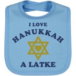 Hanukkah A Latke Baby Bib