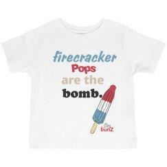Toddler firecracker pop T