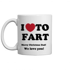 Love 2 Fart Christmas Mug