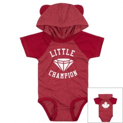 Little Champion Infant hooded onesie