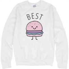Cute Pastel Burger Best Friends