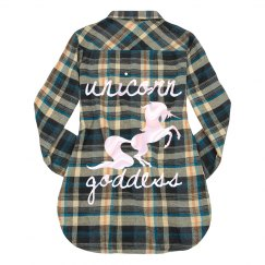 Unicorn goddess flannel