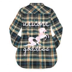 Unicorn goddess flannel