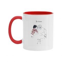 Cafe Kiss Red Handle Mug