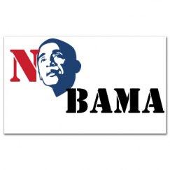 No Bama Sticker