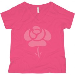 flower womens plus size tee shirt