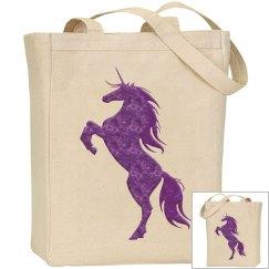 Purple Fire Unicorn Bag