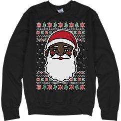 Christmas Black Santa Sweater
