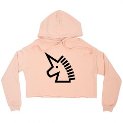 Unicorn cut off hoodie