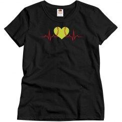 Heartbeat-Softball Tee