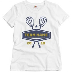 Custom Lacrosse Team & Year Tee