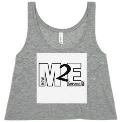 M2E Logo Neon Yellow Flowy Cropped Tank