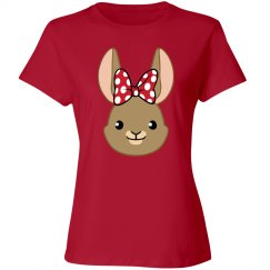 Bunny Bows - Red Polka Dots