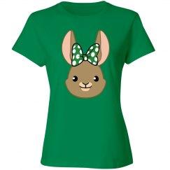 Bunny Bows - Green Polka Dots