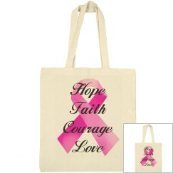 Pink Ribbon Faith Bag