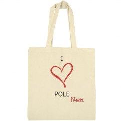 I Heart Pole Bag