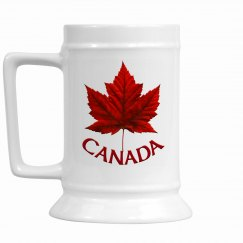 Canada Souvenir Beer Glass - Maple Leaf