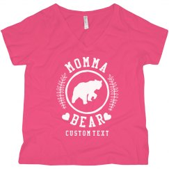 Custom Momma Bear Plus V-Neck
