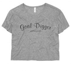 Women's Crop- Goal Digger