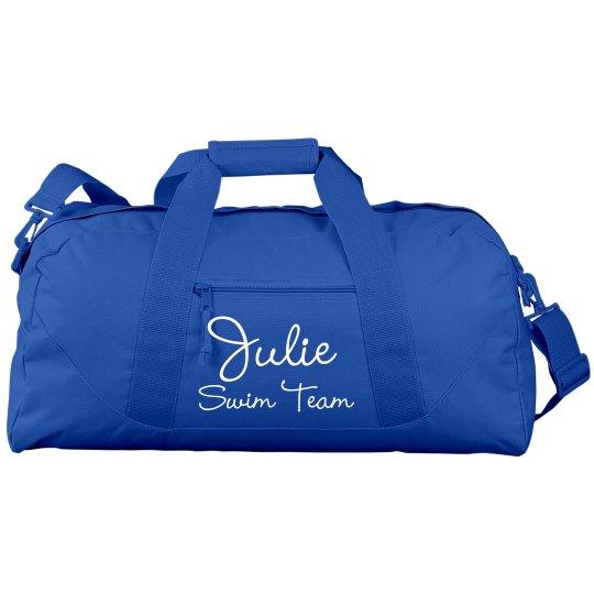 0f95708787 Custom Name Swim Duffel Liberty Bags Large Square Duffel Bag