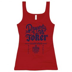 Puddin Style Long Tank-Red/Blue