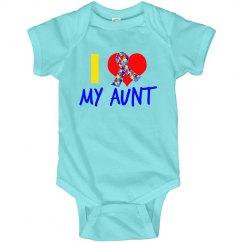 I Love My Aunt Autism Ribbon