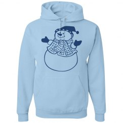 Blue Happy Snowman