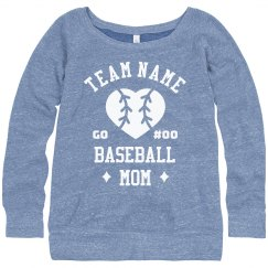 Customizable Team & Number Baseball Mom