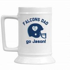 Custom Football Dad Beer Stein