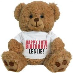 Cuddly Happy 18th Birthday