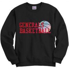Generals Glitter Basketball Sweatshirt